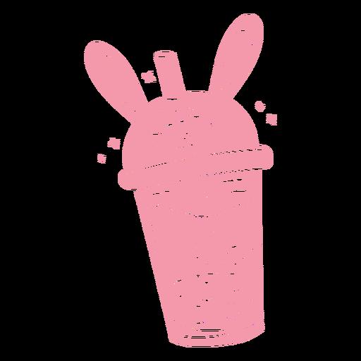 Bunny boba tea cut out