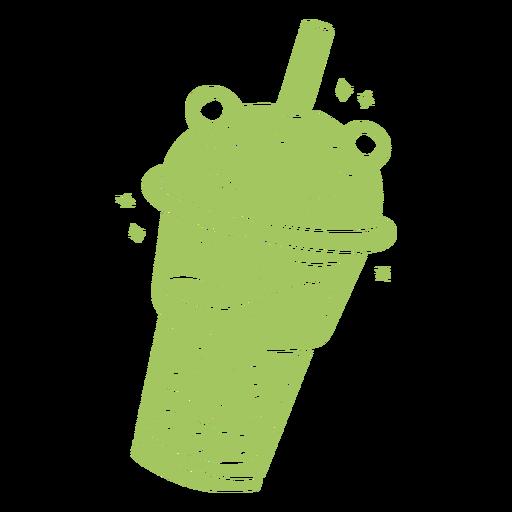 Frog boba tea cut out