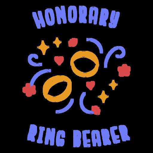 Honorary ring bearer badge