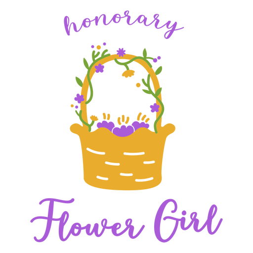 Honorary flower girl badge