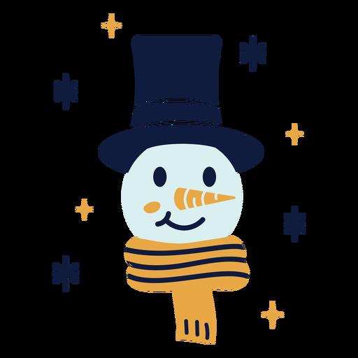 Snowman face flat