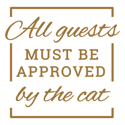 Funny cat quote badge