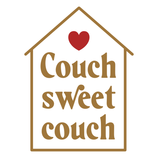 Home couch quote badge