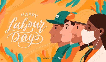 Ilustração de feriado feliz do dia do trabalho