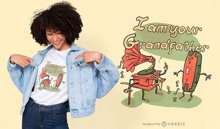 Design de camisetas engraçadas para músicos