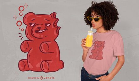 Drunk gummy bear t-shirt design