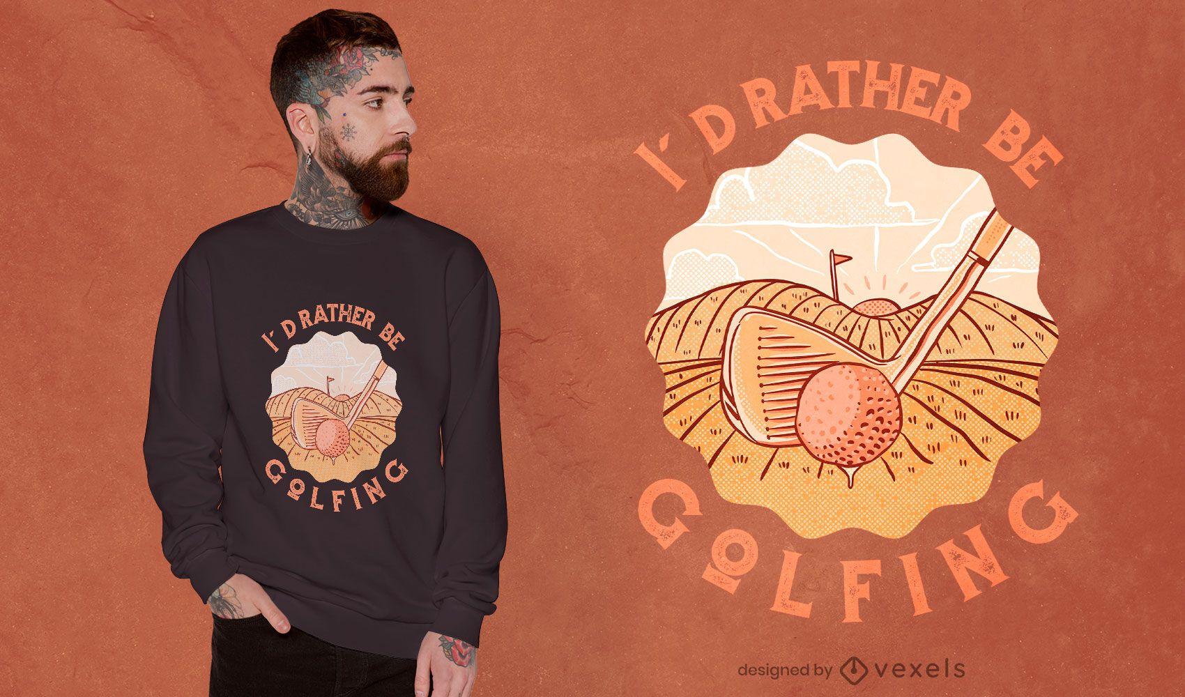 Design de camiseta de esporte de golfe