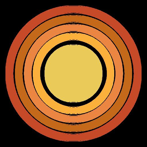 Sun circle shape gradient
