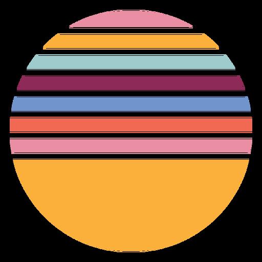 Retro sunset colorful shape