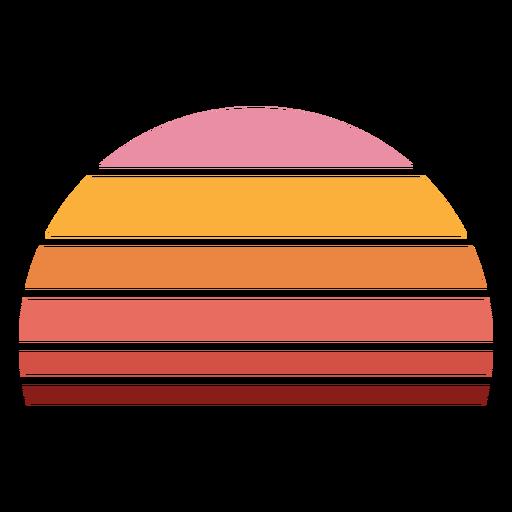Half circle retro sunset