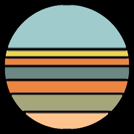 Retro sunset circle shape