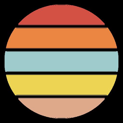 Colorful retro sunset circle