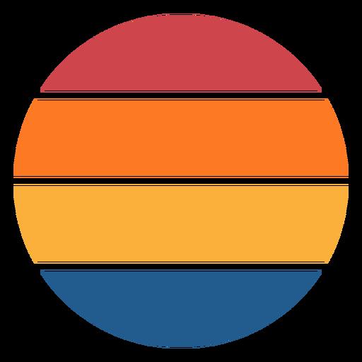 Retro sunset colorful circle