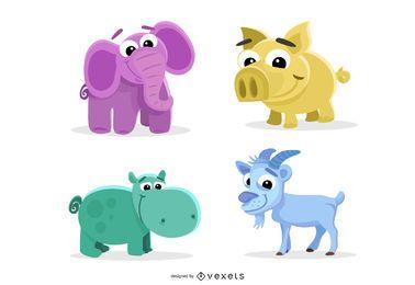 Animais ilustrados e monstros
