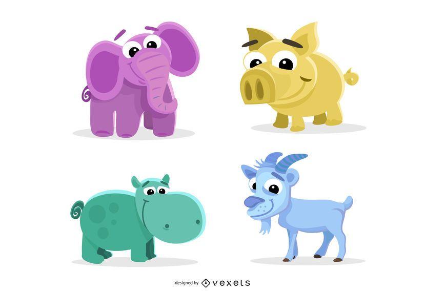 Illustrierte Tiere und Monster