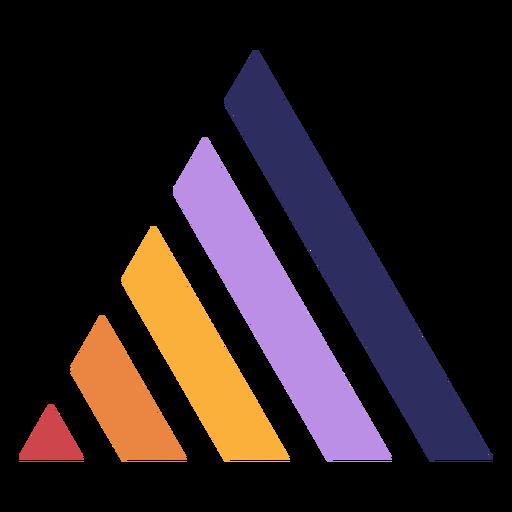 Retro sunset triangle