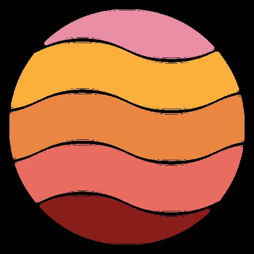 Wavy retro sunset colorful