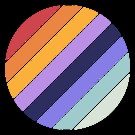 Retro sunset diagonal circle