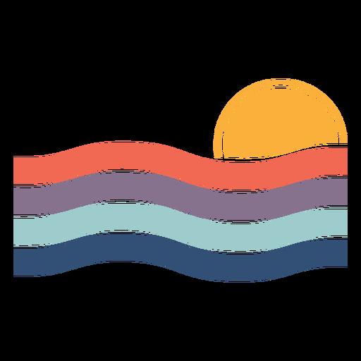 Sunset landscape flat