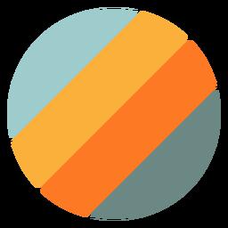 Diagonal circle shape retro sunset