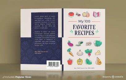 Diseño de portada de libro de recetas favoritas
