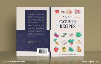 Favorite recipes book cover design