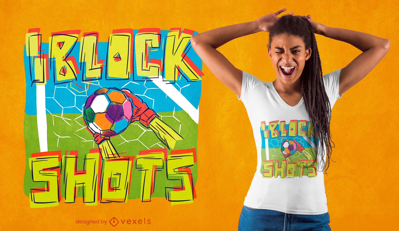 Diseño de camiseta con cita deportiva de fútbol.
