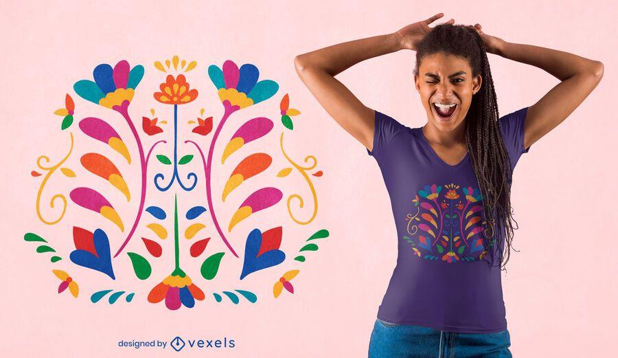 Flowers otomi decoration t-shirt design