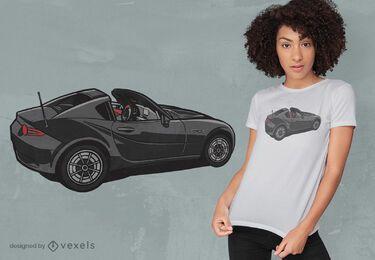 Diseño de camiseta elegante de coche deportivo negro.