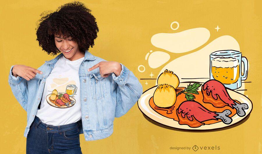 Bavarian dish t-shirt design