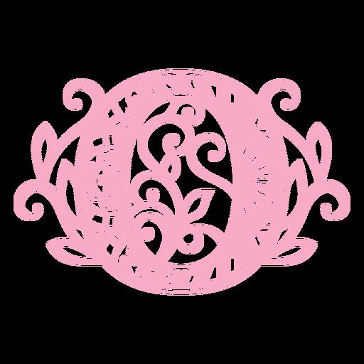 Pretty number 0 mandala design