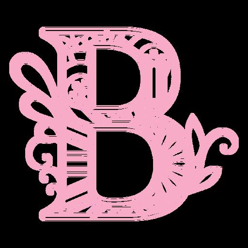 B letter floral alphabet