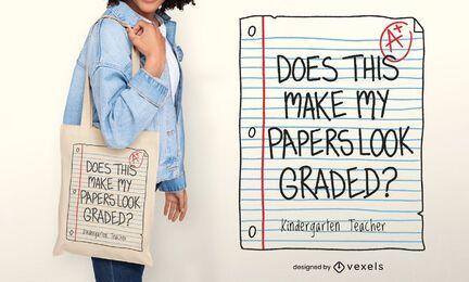 Design de sacola de papéis graduados
