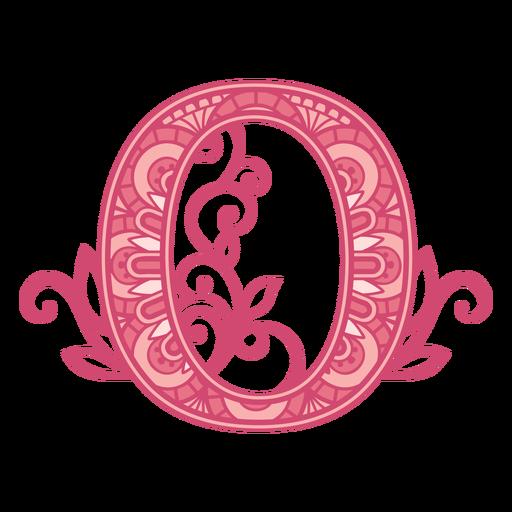 Pink letter O mandala alphabet