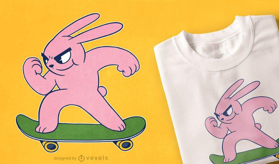 Skater bunny t-shirt design