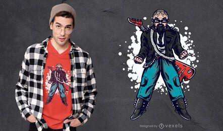 Diseño de camiseta de hombre Rockstar