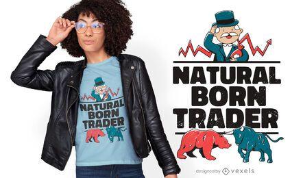Design de t-shirt de comerciante natural