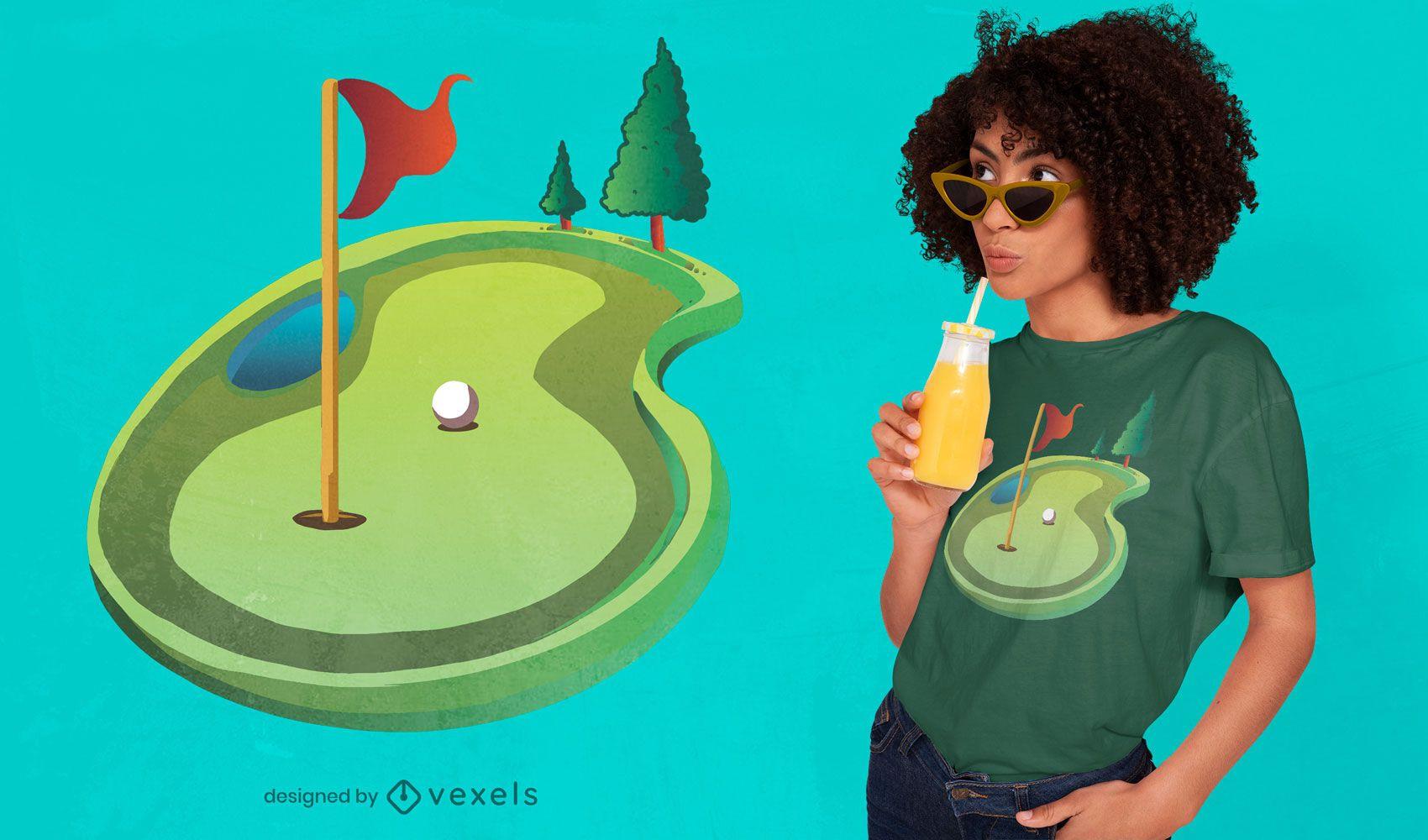 Design de t-shirt verde de golfe