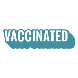 Vaccinated quote cut out