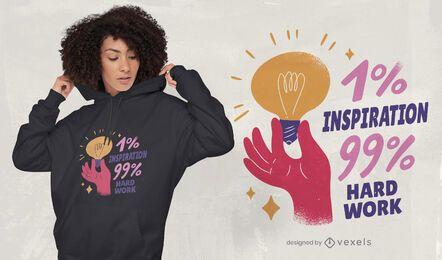 Inspiração e trabalho duro no design de camisetas