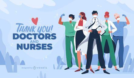 Controle deslizante do dia de trabalho dos profissionais de saúde