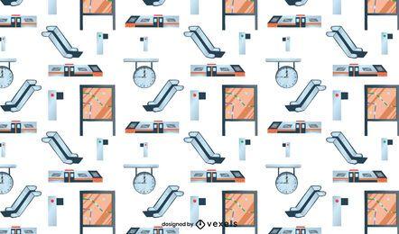 Diseño de patrón de estación de tren de metro