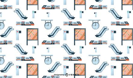 Subway train station pattern design
