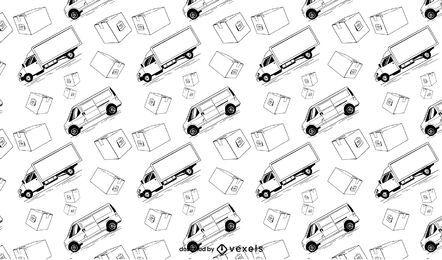 Transportmusterdesign des Lieferwagens