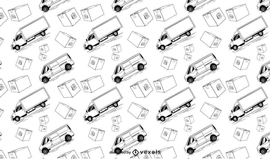 Delivery truck transportation pattern design