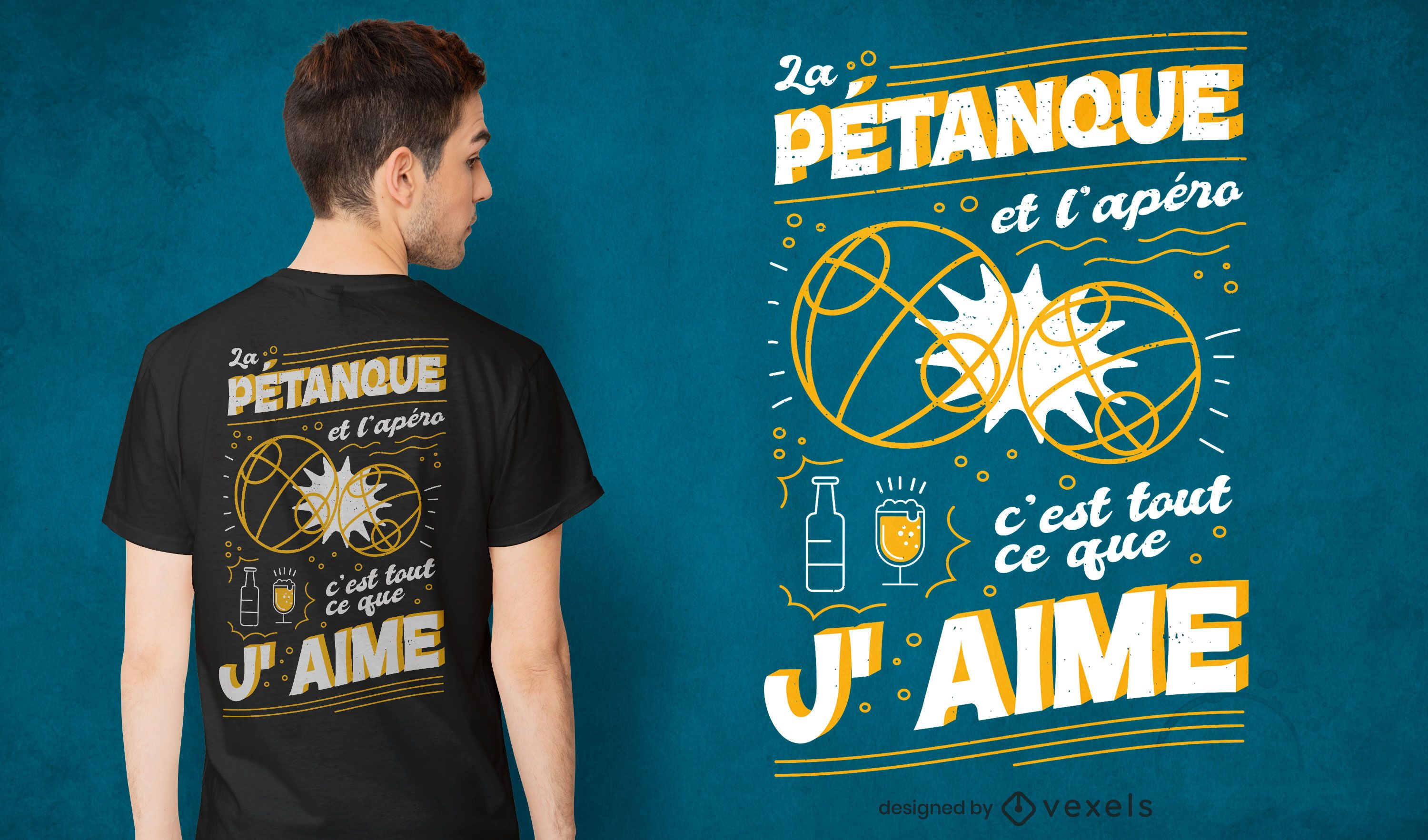 French petanque quote t-shirt design