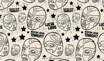 Desenho de padrão de maks de luta livre mexicana