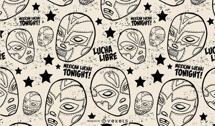 Mexican wrestling maks pattern design