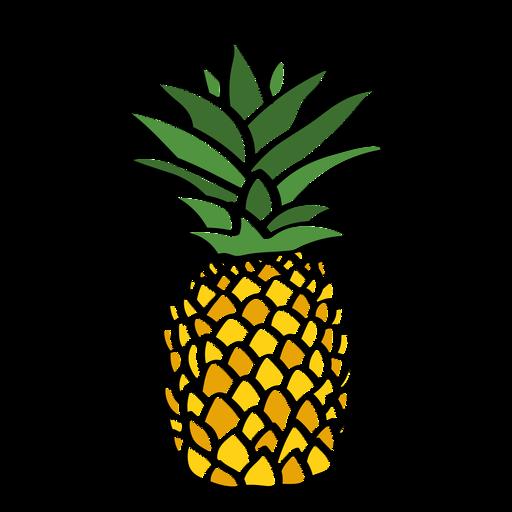 Fresh pineapple color stroke