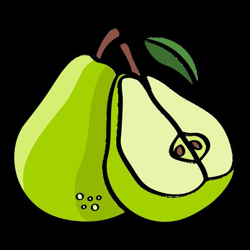 Pears color stroke